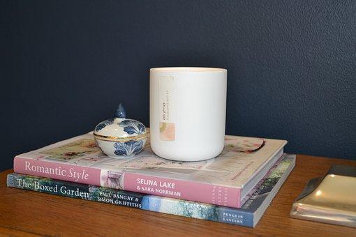 Candle, Vignette, Books