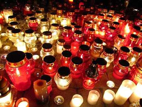Day Of The Dead, Candles, Graves, Lights