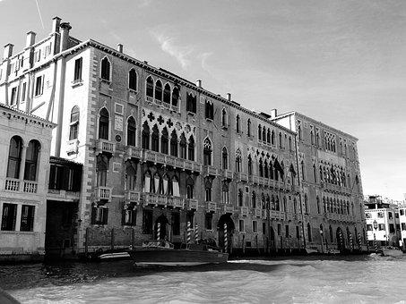 Venice, Italy, Waterway, Channel, Architecture