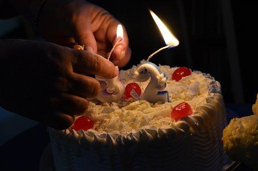 Birthday, Cake, Congratulations, Candles, Chocolate