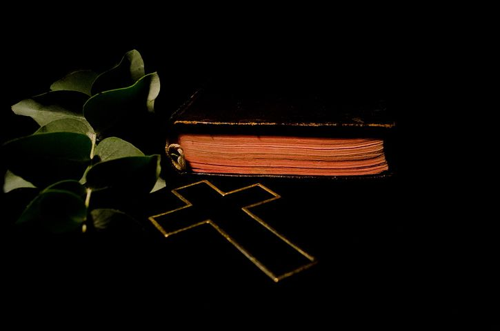 Cross, Bible, Book, Leaf, Leaves, Christianity, Jesus