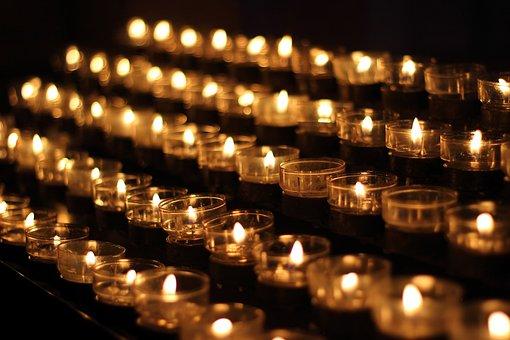 Candlelight, Candles, Church, Prayer, Lights