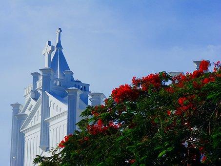 Key West, Florida, Church, Cross, Jesus, Christ