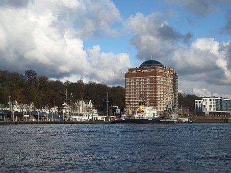 Hamburg, Port, Elbe, övelgönne Museum Harbour