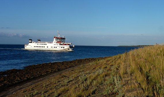Ferryboat, Schiermonnikoog, West Frisian Islands, Water