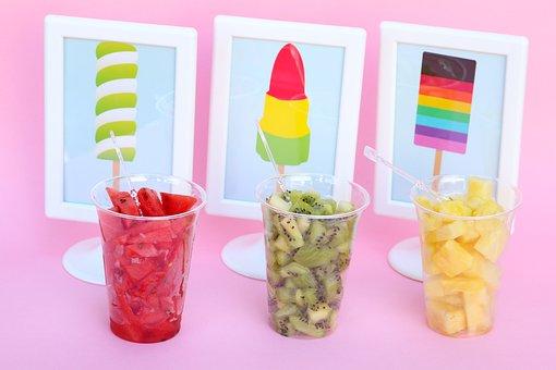 Yogurt Bar, Fruit, Summer, Flavor, Cold, Sundae