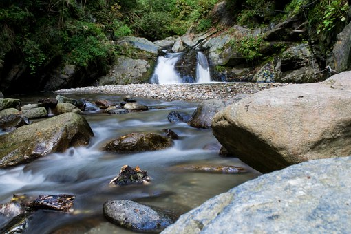 Water, Fluent, Flow, Stones, Waters, Waterfall, Forest