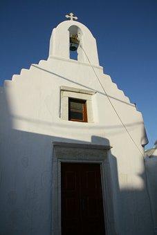 Church, Bell, Mykonos, Greek, Religion, Tower, History
