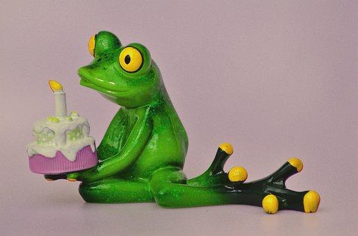 Happy Birthday, Birthday, Frog, Greeting, Greeting Card