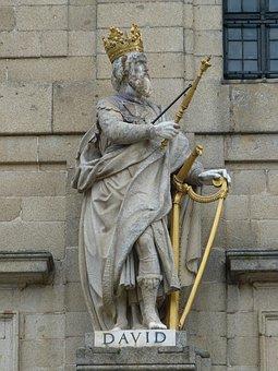Figure, King, David, King David, Harp, Madrid, Spain
