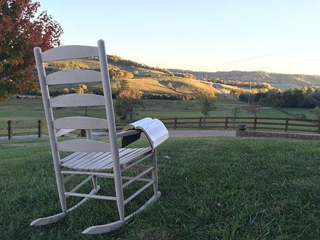 Chair, Bible, Hill, Landscape, Sitting, Religious