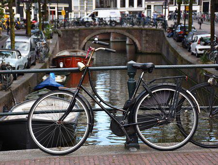 Amsterdam, Bike, Canal, Netherlands, Holland, Bridge