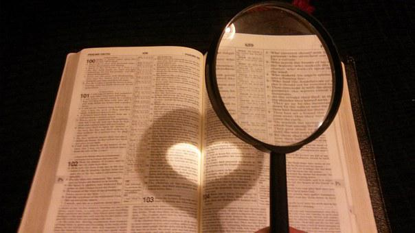 Book, Reading, Magnifying Glass, Religion, Bible, Faith