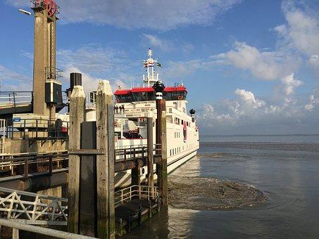Pier, West Frisian, Wadden, Sea, Sand, Water