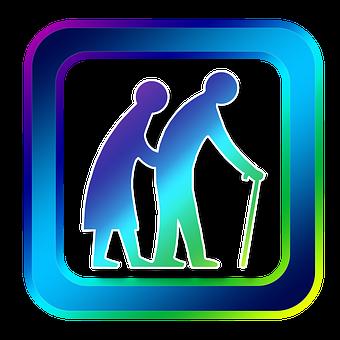 Icon, Human, Old, Seniors, Retirement Home