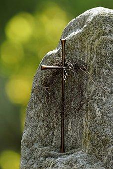 Stone, Cross, Jesus Cross, Death, Dead, Passed Away
