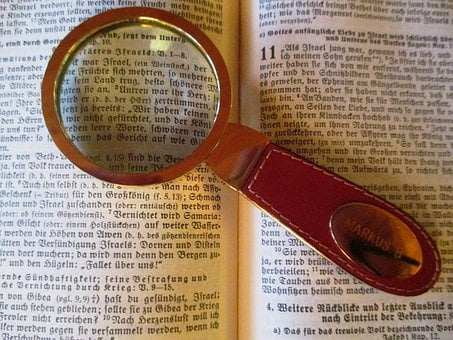 Read, Magnifying Glass, Bible, Study, Leather Handle