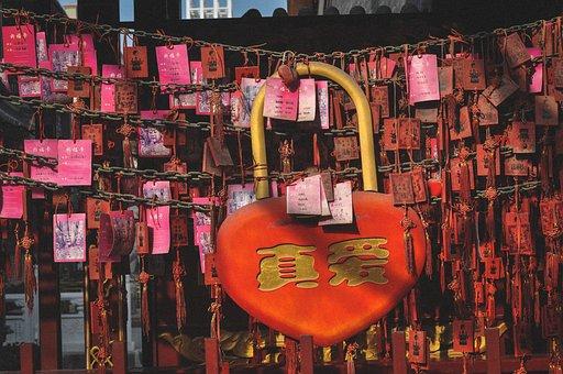 Heart, Lock, Padlock, Symbol, Love, Romantic, Vintage