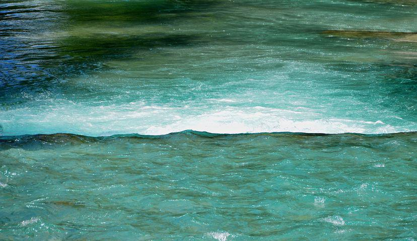 Wave, Water, Weir, River, Bach, Waters, Turquoise