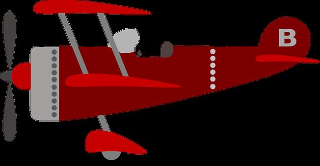 Children's Plane, Red, Kids, Plane, Child, Airplane