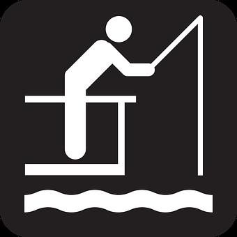 Fishing, Angling, Angling Gear, Black, Symbol, Sign