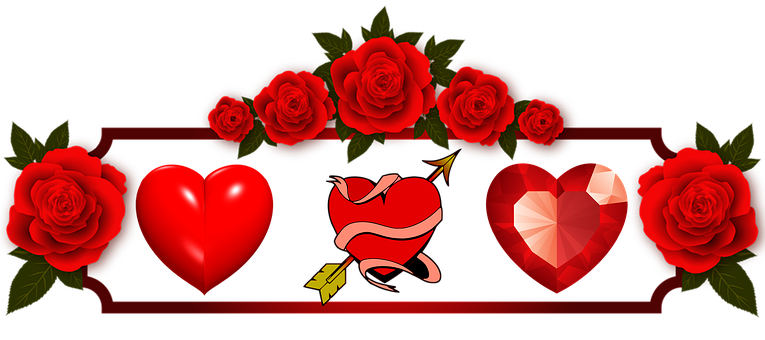 Hearts, Valentines Day, Flowers, Love, Couples, Lover