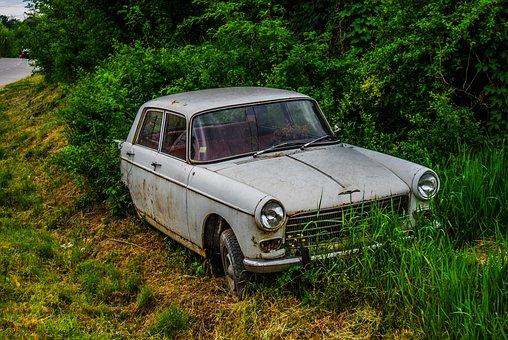 Car, Old Car, Peugeot, 404, Oldtimer, Classic