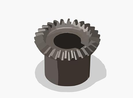 Gear, Cogwheel, Bevel, Gearing, Teeth