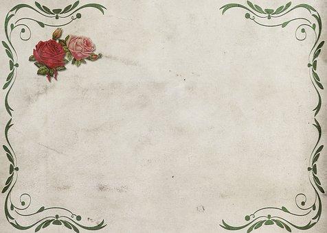 Roses, Frame, Background Image, Wedding, Flowers