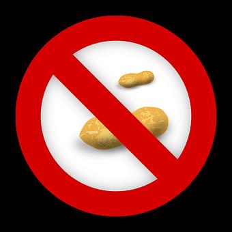 Peanut, Allergy, Food, Allergen, Reaction, Sign, Icon