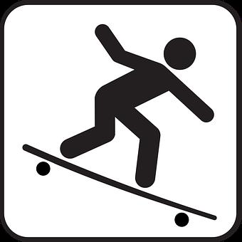Skate Board, Stickman, Stick Figure, Matchstick Man