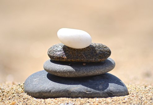 Stones, Black, White, Tower, Rest, Sand, Beach