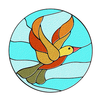 Bird, Circle Icons, Duck, Stained Glass, T-shirts