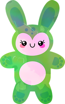 Rabbit, Hare, Rodent, Animal, Cuddly, Cute, Green, Toy