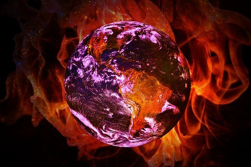 Climate Change, Global Warming, Earth, Flame