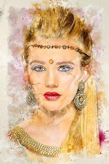 Bindi, Asian, Jewellery, Beauty, Portrait, Female