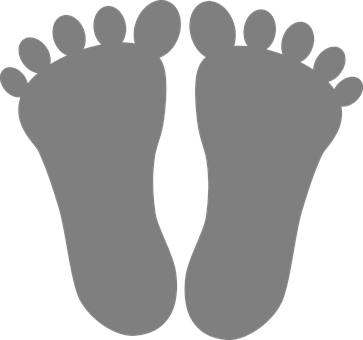 Feet, Toes, Footmarks, Outline, Human