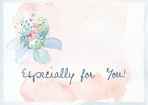 Especially, For, You, Greeting, Stylish, Watercolor