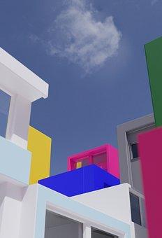 Architecture, Colors, City, Window