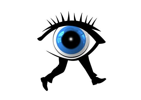 Eye, Legs, Race, Run, Escape, Direction, Iris, Pupil
