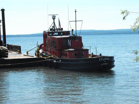 Lake Superior, Boat, La Pointe, Wi, Madeline Island