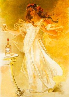 Alcohol, Bohemian, Boho, Bottle, Chick, Deco, Dress