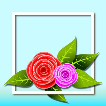 Illustration, Card, Postal, Drawing, Flowers, Floral