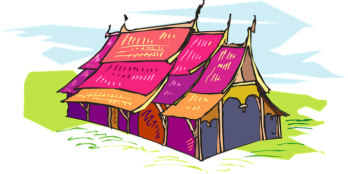 Tent, Colored, Circus, Entertainment, Carnival