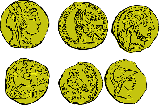 Collection, Coins, Coin, Gold, Pirate, Ancient Greek