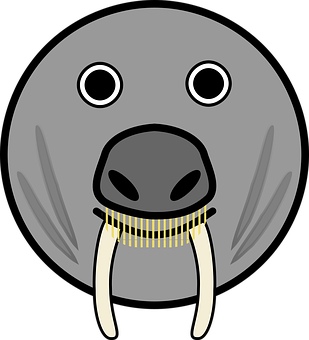 Elephant Seal, Seal, Horns, Fang Teeth