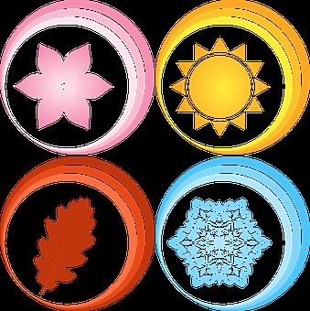 Season, Spring, Summer, Autumn, Winter, Symbol, Year