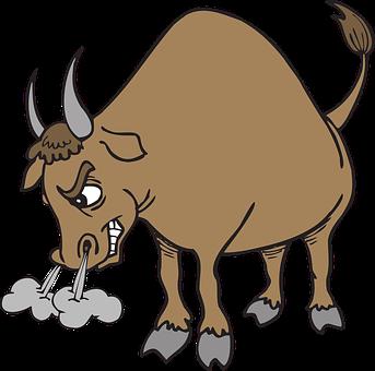 Angry, Bull, Horns, Animal, Tail
