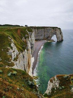 France, Etretat, Normandy, Cliff, Path