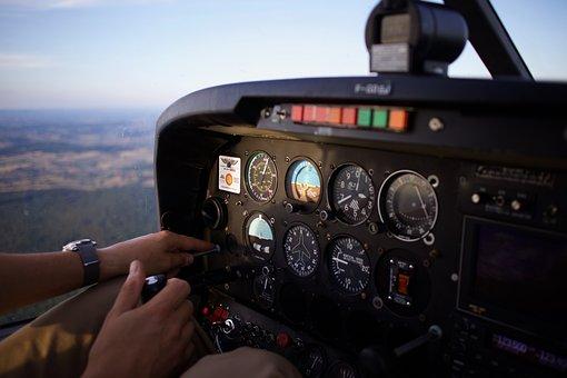 Aircraft, Sky, Flight, Aviation, Transport, Cockpit